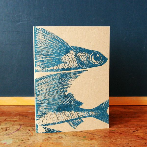 Notebook A5 - Carnet de note -  cahier sérigraphié - Poisson volant