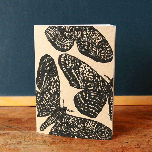 Notebook A5 - Carnet de note - Cahier sérigraphié - Papillons