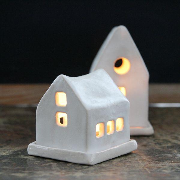 Photophore maison en céramique