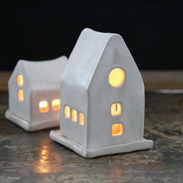 Photophore maison en ceramique fait main
