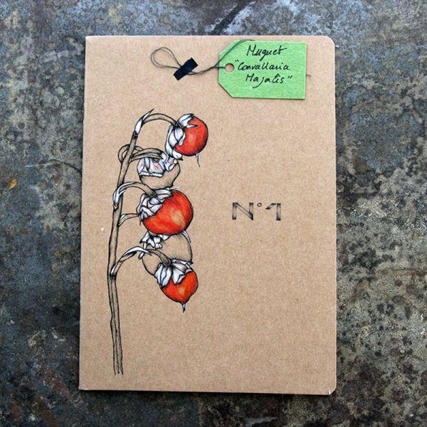 Carnet-notebook botanique A5 - Muguet