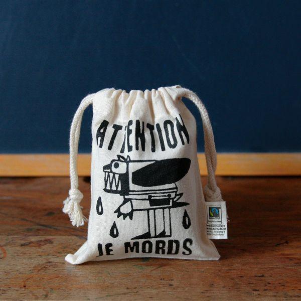 Pochon Monstres - Sac à gouter enfant coton Bio-Fairtrade