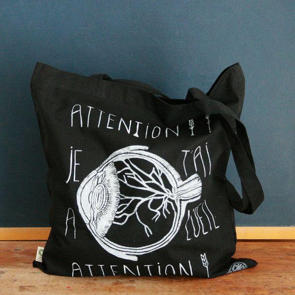 Tote bag - Bag with organic cotton - I keep an eye on you