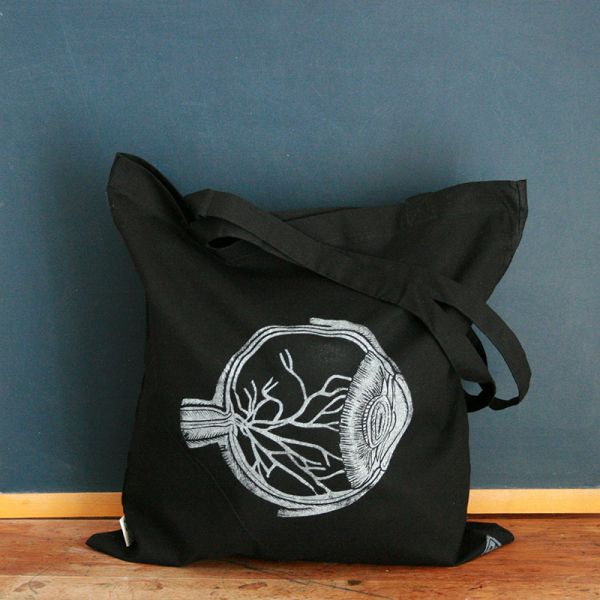 Tote bag - Bag with organic cotton - Right eye